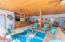 Porcelain tile flooring throughout the covered pool house