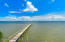 200 ft long dock with sitting platform