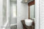 Master bathroom with custom vanity and vessel sink