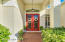 Inviting front entry doors.