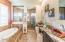 Huge vanity space, garden tub and walk-in shower