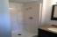 3/4 Bath with Shower off of Kitchen