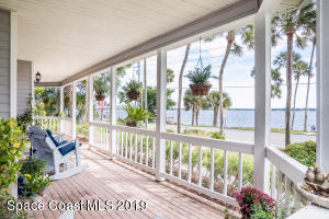 View of Indian River from wrap around porch