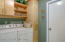 Laundry Room with built in cabinets