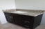 hall bath granite counter top with mocha shaker