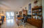 The home's open floor plan allowed for an office/library on one side of the family room.