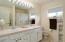 Upstairs Bathroom, dual sinks