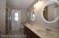 guest bath newer large shower with grab bars