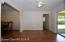 Dining room leads to master bedroom