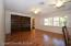 Formal living room. Plantation shutters