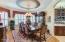Formal Dining Room with Trompe l'oeil painting on ceilings and around windows