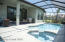 Electric heat spa and gas heated pool.