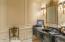Custom Marble Vanity in the Guest Bathroom off main Foyer.