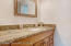 Master bathroom with new granite countertops