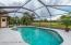 Swimming pool with entry to pool bathroom