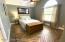 Downstairs guest bedroom with adjoining bathroom