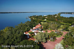 Aerial View of Main House and Indian River