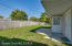 Walk outside to your fully fenced private back yard!