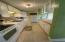 Galley-style kitchen with lots of storage space