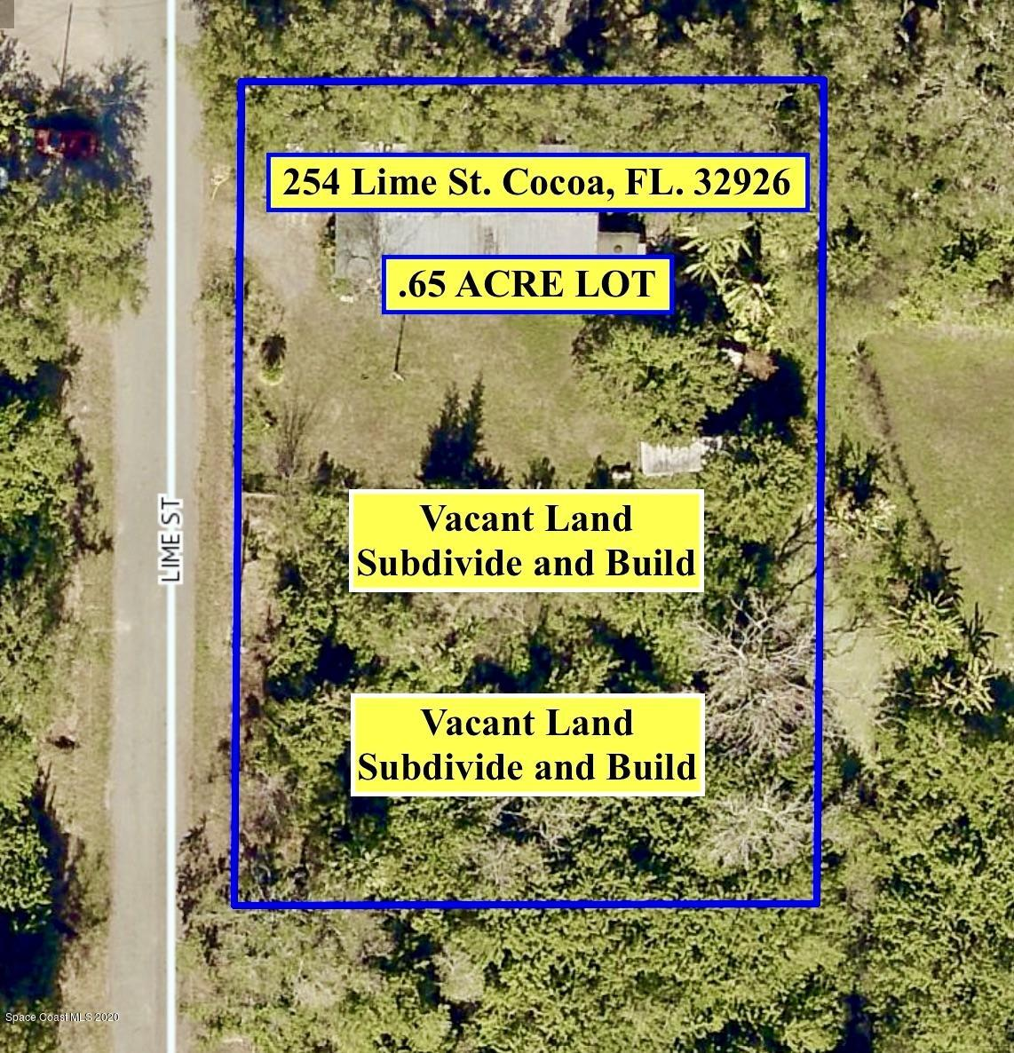 Home on .65 ACRE LOT - Could Subdivide