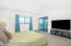 Master Bedroom sliders to Balcony and riverviews
