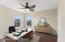 Virtually staged upstairs bedroom/office