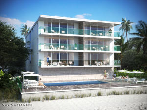 Ideal oceanfront location in Indialantic...oceanfront corner residences with glass ocean railings and oceanfront pool...
