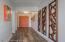 Custom art in entry hallway.