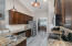 Beautiful kitchen with vaulted ceiling, stainless appliances and plenty of storage.