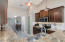 Immaculately clean kitchen with ample counter tops is a chef's dream.