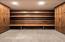Walnut lockers shelves