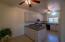 Studio dining area to full kitchen