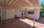 Carport to storage room in studio