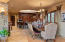 Dining area flows into the gourmet kitchen