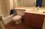 Main bathroom with cultured-marble surrounds