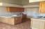 Kitchen with access to garage