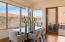 Amazing views from large, open dining area. Also a sliding door to outside patio dining area