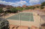 Tennis court at The Cliffs recreation area.