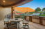 This is such a beautiful covered patio and full outdoor kitchen for friends and family to enjoy! PLUS, LOOK AT THE VIEWS!