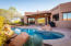 Patio with Inviting Pool and Heart Shaped Spa