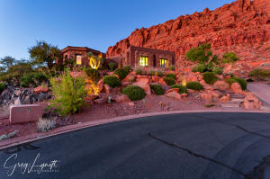 This gorgeous previous home show home sits on one acre of privacy and is the highest lot in Entrada. Views in every direction! A castle on a hill.