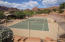 The recreation area also includes a tennis court. The use of all facilities is included in the low HOA payment.