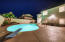 Oversized party/family pool. Palm trees added to new landscaping