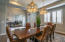 Formal Dining with Office or 5th bedroom across the hallway