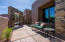Plenty of room to sit back and enjoy in this large front courtyard.