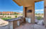 The outdoor kitchen comes with refrigerator, TV, and sink along with BBQ of course.