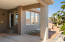 Covered patio with pull down shades