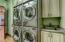 Double Washer & Dryer in Main Laundry with sink and lots of storage