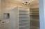 Casita custom closet with hookups for stackable washer and dryer