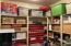 Storage Room with Built-in Shelves